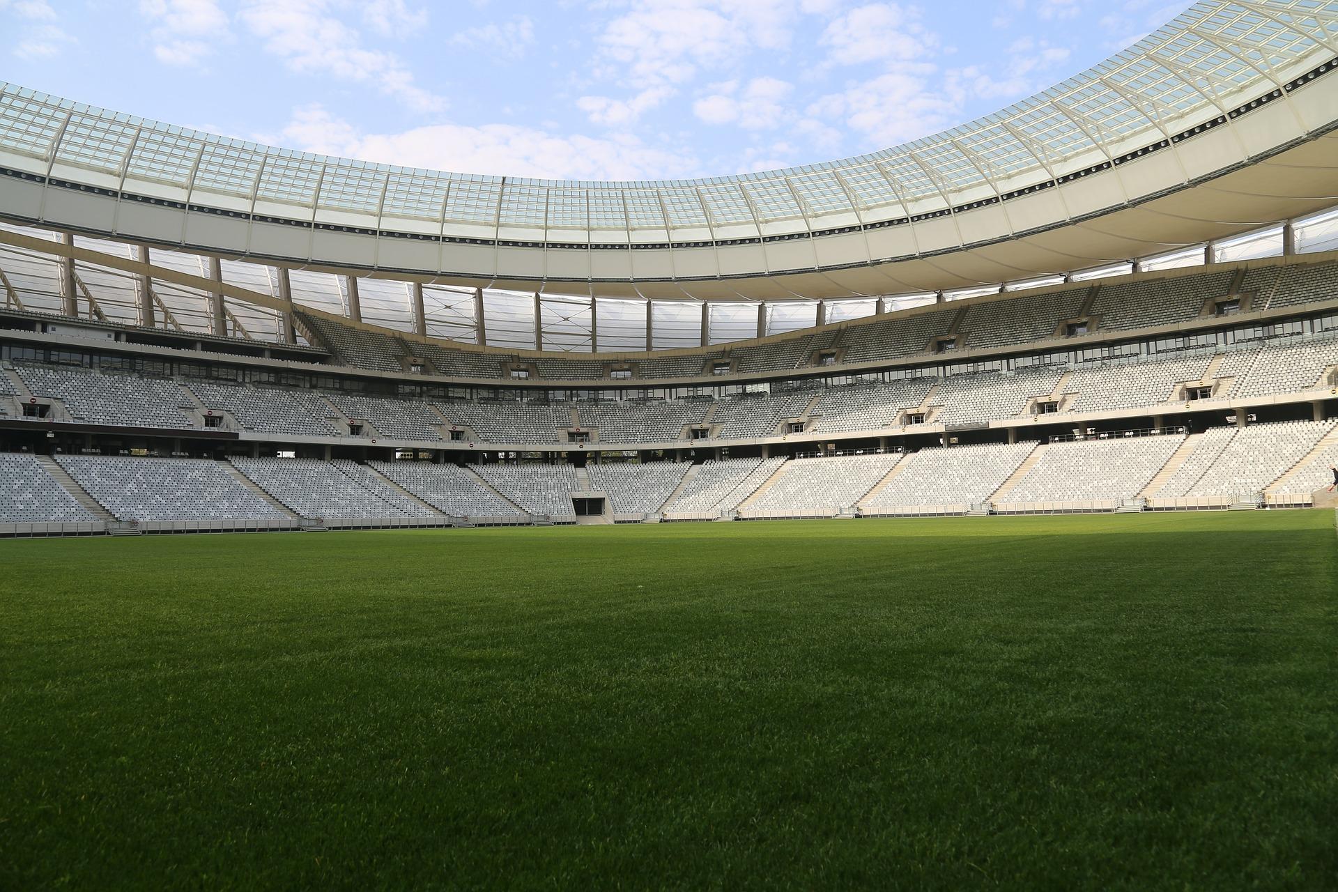 obras em estádios